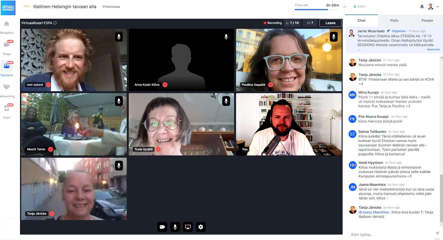 Virtuaalitapahtuma kokoushuone